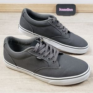 VAN'S Off The Wall Gray Canvas Skater Shoes Sneake
